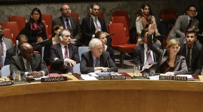 The shameful vote of the Security Council
