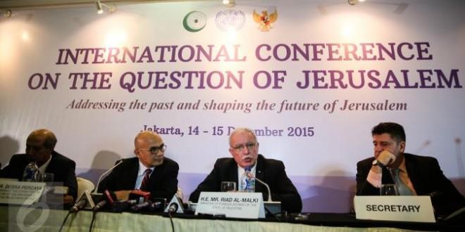 The international conference about Jerusalem in Jakarta 2015