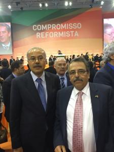 Ambassador Hikmat Ajjuri with his Excellency Ambassador of Egypt Ali Elashiry