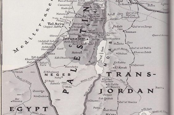 A National Geographic map of Palestine, 1947