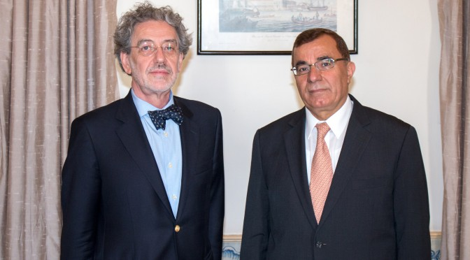 Ambassador Meets with the Rector of The Open University
