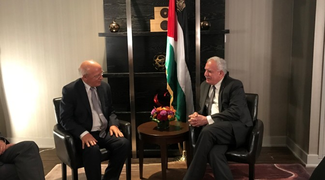 Palestinian Minister of Foreign Affairs meets with his Portuguese counterpart