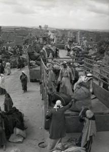 A Evacuação do Iraque al-Manshiyya, perto da chamada, nos dias de hoje, Kiryat Gat, em Março de 1949. Colecção de Benno Rothenberg / Arquivo das Forças de Defesa de Israel